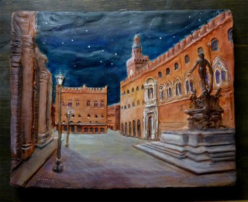 Piazza maggiore e Nettuno di notte
