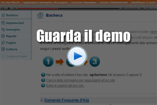 Creazione sito online sito fai da te crea sito mobile for Sito mobili online